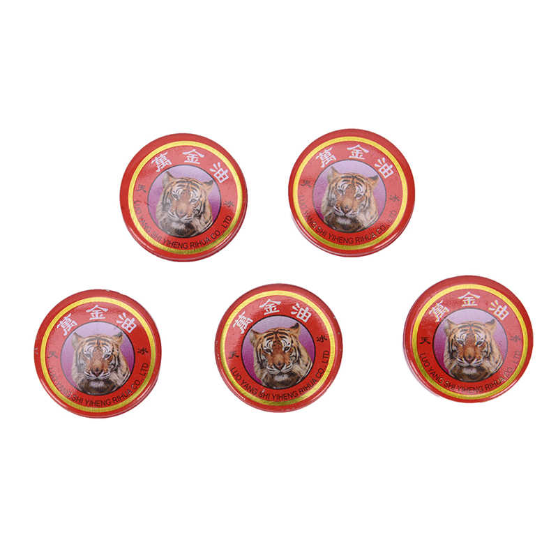 5Pcs Chinese Tiger tiger relax oils Muscle Massager Relax Essential Oil   Balm Refresh Influenza Treatment Cold Headache