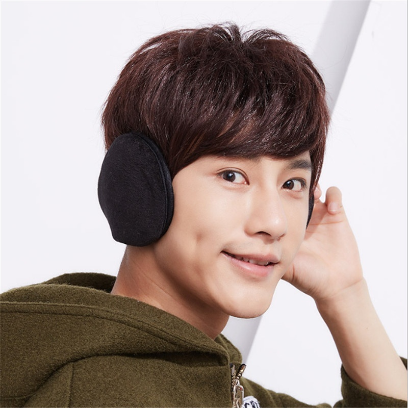 New Fashion Unisex Winter Earmuffs Soft Thicken Plush Ear Cover Protector Ear Warmer Earmuffs For Men Winter Accessories