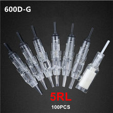 600D-G 5RL Tattoo Naalden Tattoo Permanente Make-Up Naalden Gesteriliseerd Eyebrown Lippen Tattoo Machine Pen Tattoo Naalden 100 Stks/partij(China)