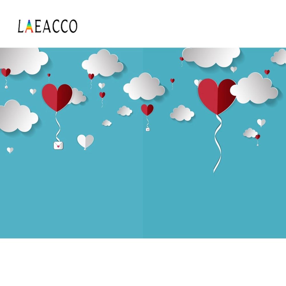 US $3 74 OFF Laeacco Bayi Gambar Kartun Cinta Merah Kasih Cloud Pesta Wallpaper Foto Pola Latar Belakang Fotografi Latar Belakang Call