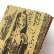 60 hojas de papel Kraft 15*15CM papel decorativo multifuncional Vintage Impresión de doble cara artesanía decorativa para álbum de recortes