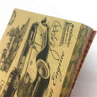 60 Sheets Kraft Paper 15*15CM Multifunctional Decorative Paper Vintage Double-sided Printing Scrapbooking Decorative Craft