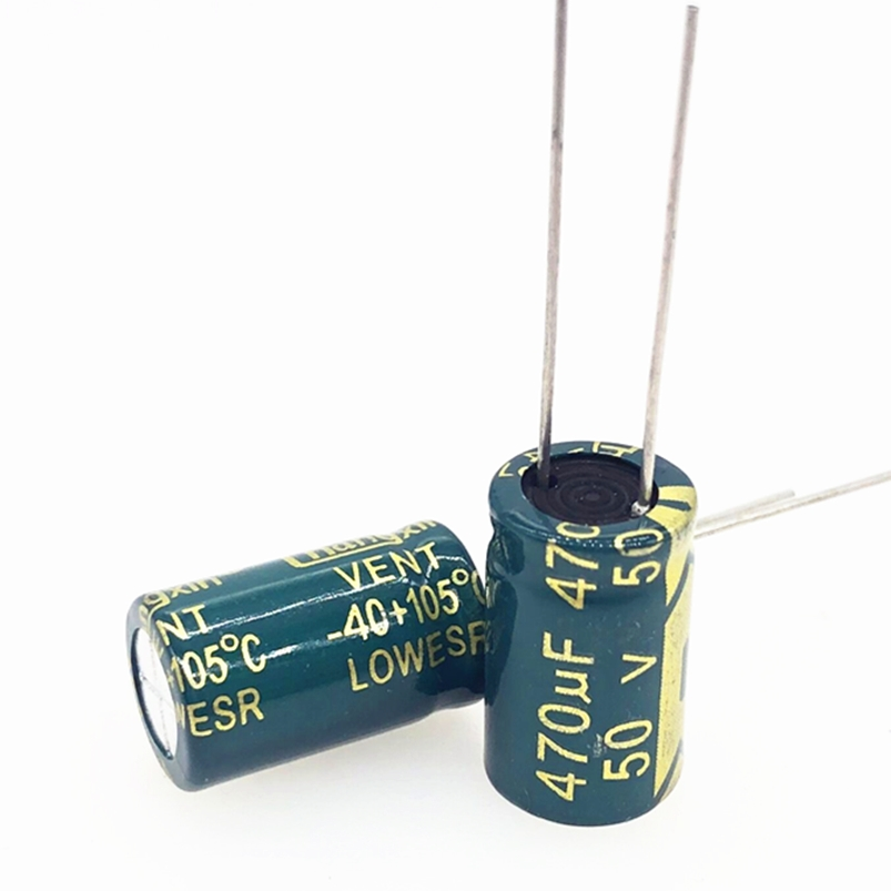 20pcs/lot 50V 470UF 10*17MM High Frequency Low Impedance Aluminum Electrolytic Capacitor 470uf 50v 20%