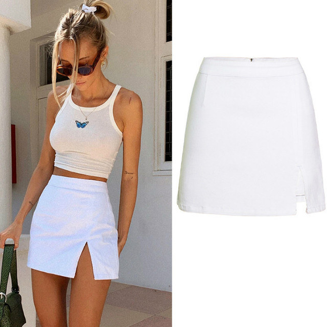 High Waist Denim Skirt for Women Split Pencil Skirts Womens Summer Jean Skirt 1
