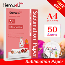 A4 50sheets Sublimation Heat Transfer Paper 100/105/113G for Polyester T-Shirt Cushion Fabrics Phone Case Printing Design