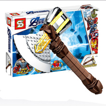 Marvel Super Heroes Avengers 4 Thor Axe Storm Tomahawk Sets Building Block Kid Toy Edcation Model Baby Toys For Children стоимость