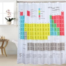 Creative Periodic Table of Elements Shower Curtain Chemical form Digital Printing Waterproof Shower Curtain Bathroom Products novelty 3d end of the world digital printing shower curtain for bathroom