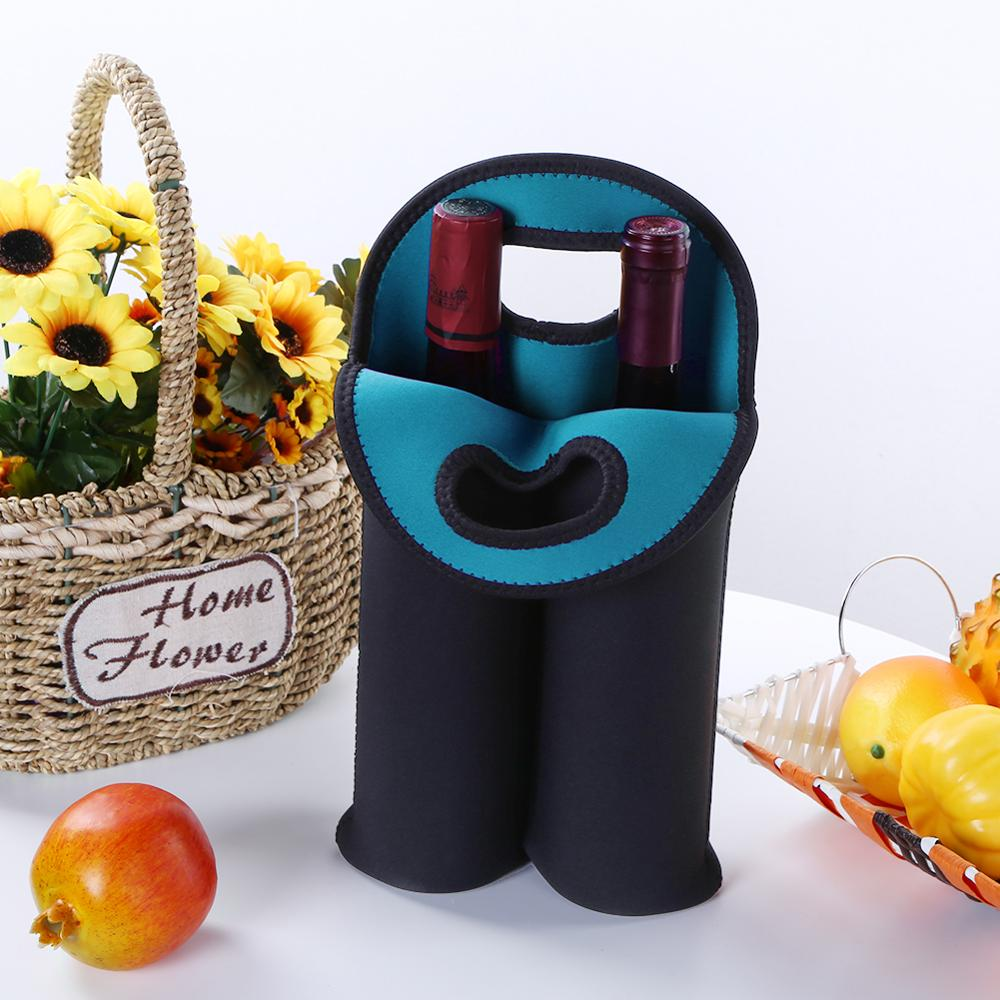 1/2 Bottles Neoprene Wine Bottle Freezer Bag Cooler Wine-bottle Bag Protect Insulated Cover Beer Cooling Holder Carrier