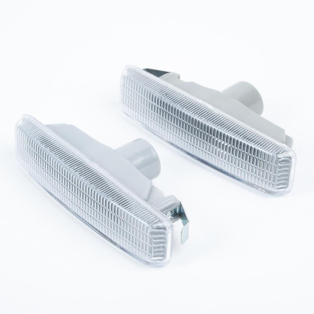 Передние боковые габаритные огни, 2 шт., указатели поворота бампера для BMW 5 серии E39, мигалка с линзой