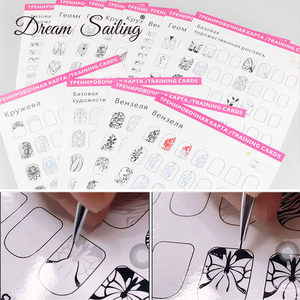 12 pcs Manicure Training Card