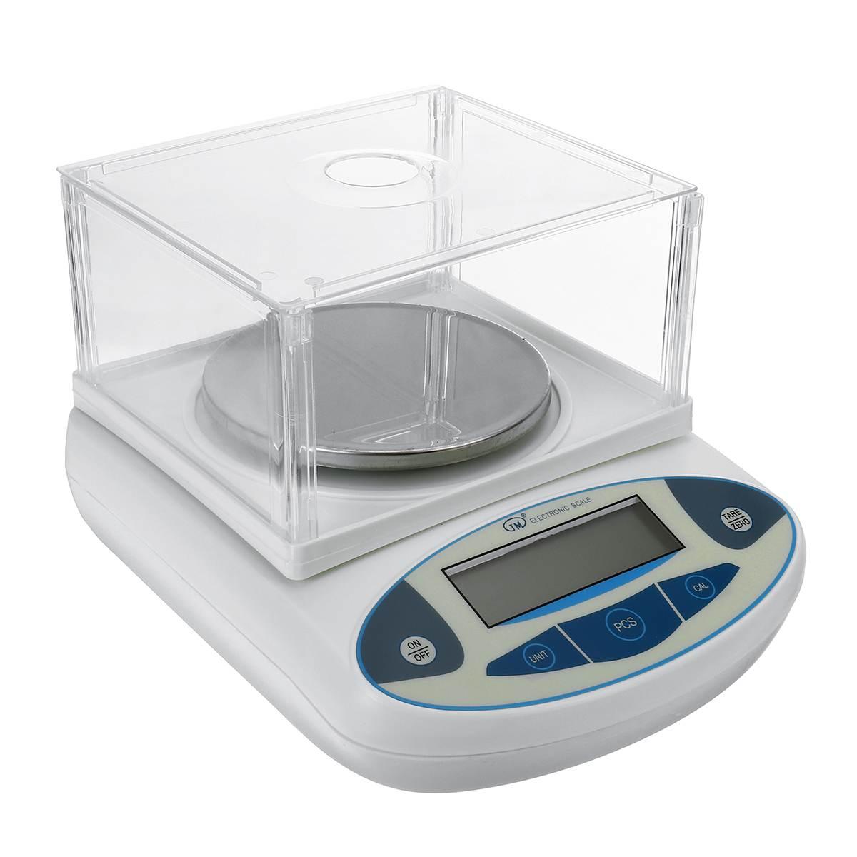 Balance numérique électronique de laboratoire d'affichage à cristaux liquides de laboratoire de 2kg Balance analytique de bijoux de précision Mini Balance de poids portative 2000x0.01g - 5