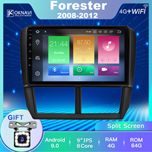 цена на OKNAVI For Subaru Forester Car Radio Android 9.0 Eight Core For Subaru Forester Impreza 2008-2013 DVD Multimedia Player Stereo