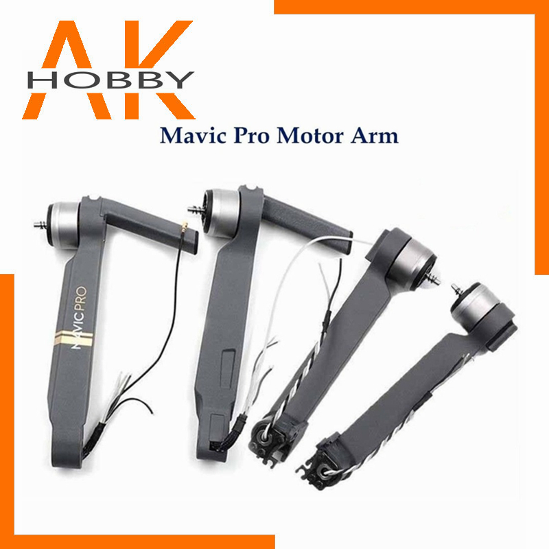 Original Mavic pro Front Back Left Right Motor Arm With Cable Spare parts For DJI Mavic pro Drone Arm motor Repair Accessories
