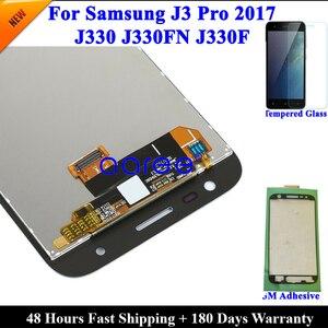Image 4 - Yapıştırıcı + % 100% test edilmiş Samsung J3 2017 J330 LCD J330F J330 ekran LCD ekran dokunmatik sayısallaştırıcı tertibatı, değil J327