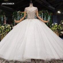 Robe de mariée avec traîne amovible, avec perles faites à la main, avec fermeture éclair, nouvelle mode, robes de mariée HTL963