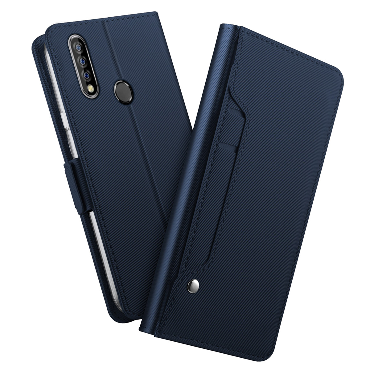 For Oukitel C17 Pro Case PU Leather Wallet Flip Stand with Mirror Cover For Oukitel C16 Pro K9 K12 Case Card Shockproof Shell(China)