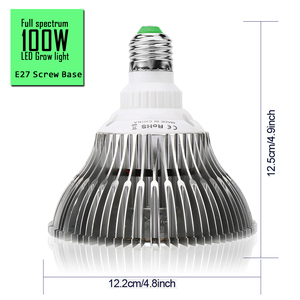 Image 2 - (10pcs/Lot) E27 100W Full Spectrum LED Grow Light For Indoor Garden Greenhouse Plant Growing & Flowering SMD Grow Lamp