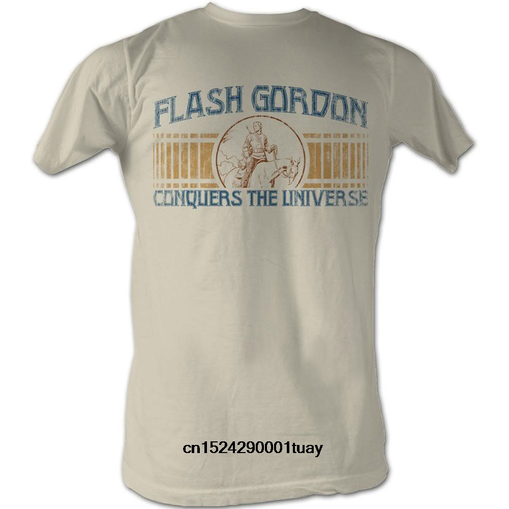 Funny t shirt men novelty women tshirt Flash Gordon Conquer T-shirt(China)