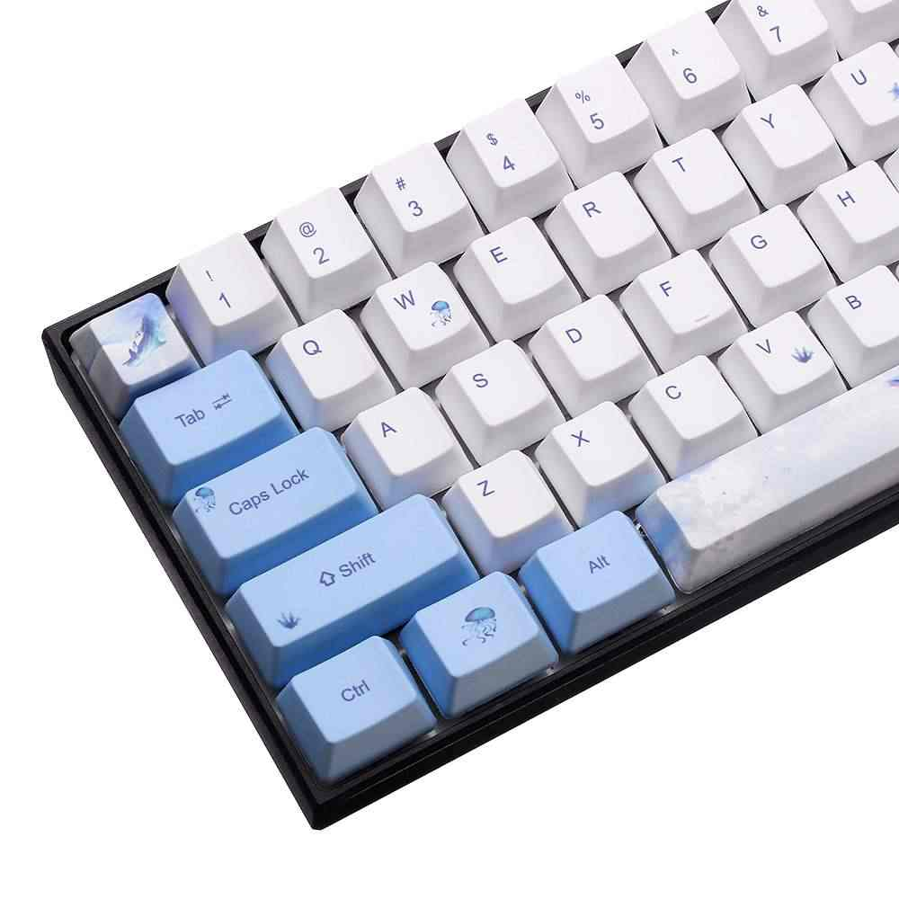 PBT סובלימציה לווייתן נושא Keycap סט OEM פרופיל Keycap עבור GK61 GK64 מכאני משחקי מחשב מחשב נייד מחשב