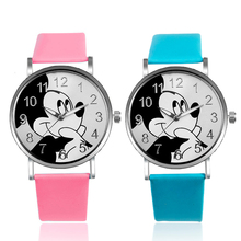 цены Cute Minnie Mickey Kids Watches Children Watch Cartoon Mouse Large Dial Quartz Wristwatches Girls Boys Clock Reloj Montre Enfant