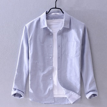 2019 New arrival Suehaiwe's brand long sleeve shirt men fashion yellow shirts for men casual seasons shirt male camiseta - Gray, XXL