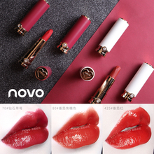 Novo lipstick velvet matte cream long lasting waterproof orange sexy red white a