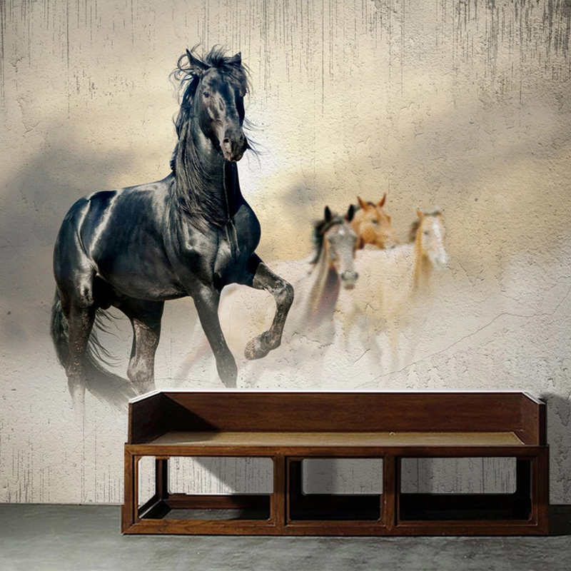 3D Wallpaper Modern Simple Running Horse Personality Mural Wallpaper Living Room TV Sofa Bedroom Home Decor Wall Paper For Walls