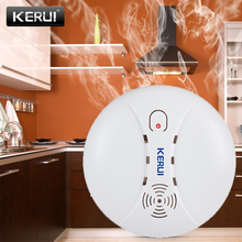Детекторы дыма KERUI, 433 МГц, беспроводные детекторы, будильник для Wifi, GSM, PSTN