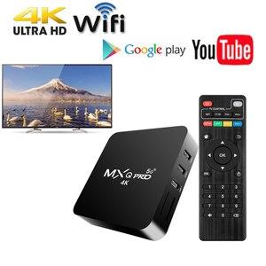 MXQ pro 4K Android 10,1 Smart Box Android TV Box HD 3D медиаплеер ТВ-приставка 2,4G 5G Wifi инфракрасный пульт дистанционного управления для youtube