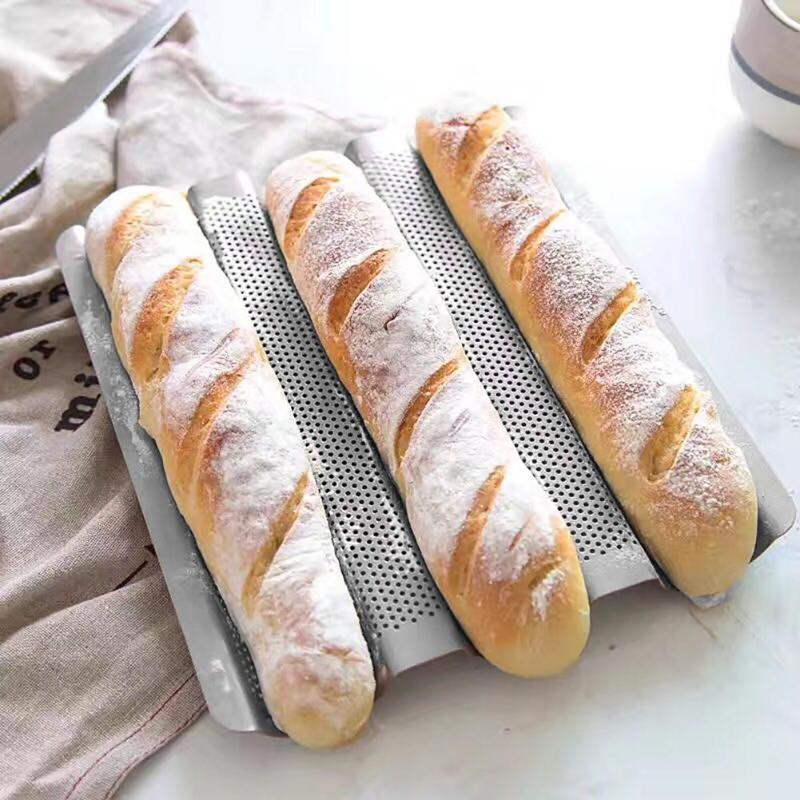 2/3/4 Groove Waves Bread Baking Tools French Bread Baking Mold Bread Wave Baking Tray Cake Baguette Mold Pans Baking Tools
