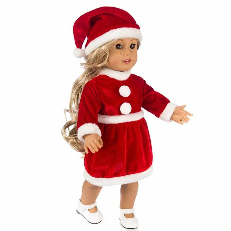 Christmas Clothes Cute Sweater Hat Outfits Skirt Fit 18 inch Our Generation United States Girl 43cm Doll accessories for Dolls