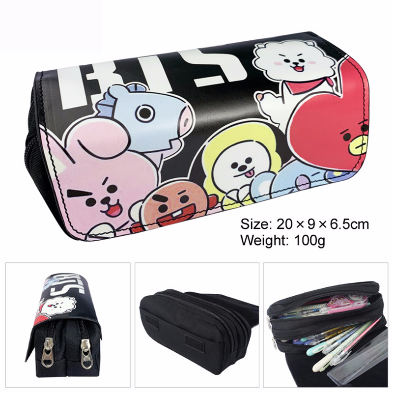 Kawaii Double Large Capacity Pencil Case Bag Korea Cartoon Unicorn Pen Box Cute Zipper Pencilcase Office & School Supplies Gift
