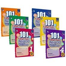 Nuevo 6 unids/set 101 matemáticas desafiantes problemas de palabras libros Singapore Escuela Primaria Grado 1-6 libro de práctica de matemáticas