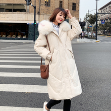 Diwish Big Fur Hooded Long Winter Jacket Women Plus Size 3XL Casual Thicken Warm Parka 2019 Fashion Coat Female Outwear
