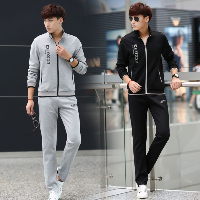 2019 Autumn New Style Fashion Couples Hot Selling Hoodie Stand Collar Men And Women Sports Set Outdoor Fitness Suit
