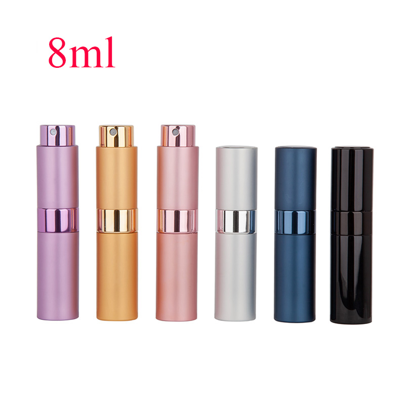 8ml10ml15ml Metal Aluminum Perfume Bottle Cosmetic Spray Bottle Portable Empty Bottle Travel Sub-bottle Liner Glass For Travel