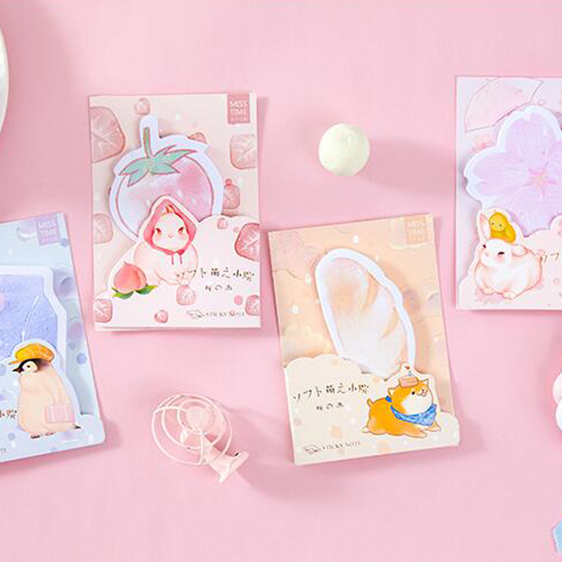 30packs /lot Cute Aura Girl Series Message Memo Pad Planner Sticky Note Paper Sticker Student Stationary Shool Office Supply