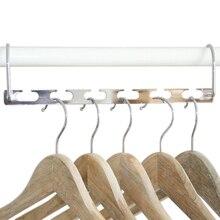 Вешалка для одежды, многофункциональная, экономия пространства, вешалка для одежды с крюком, волшебная, 6 отверстий, органайзер для одежды, железная сушилка для одежды