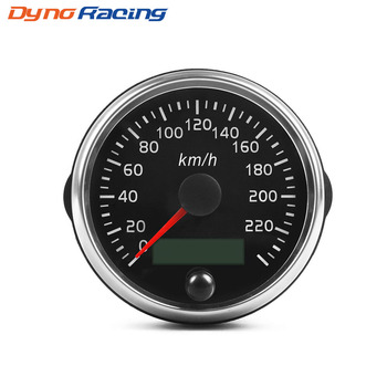 Universal 85mm Speedometer 220km/h Speed Gauge Meter With White/Amber Backlight 12V 24V With LCD For Car Truck Boat Motor black 60mm gps digital speedometer 12v 24v odometer gauge car motorcycle atv marine boat truck