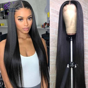 Brazilian 28 30 inch Lace Closure Wig Straight 13x4 Lace Front Human Hair Wigs 360 Full Lace Frontal Wig Remy 150% Modern Show(China)