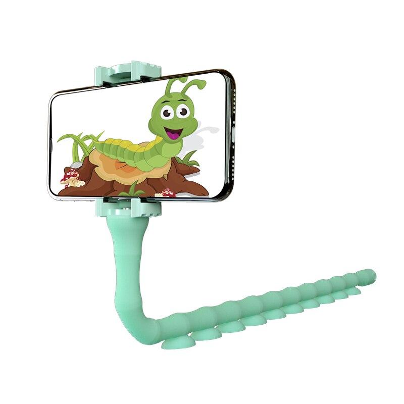 Bracket Suction Cup Support Wall Desktop Pillar Holder New Cute Caterpillar Lazy Bracket Mobile Phone Bracket Worm Live