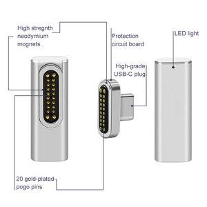 Image 3 - 高品質 20 ピン磁気 USB C アダプタータイプ C コネクタ PD 100 ワット Macbook Pro のための急速充電 huawei 社サムスン