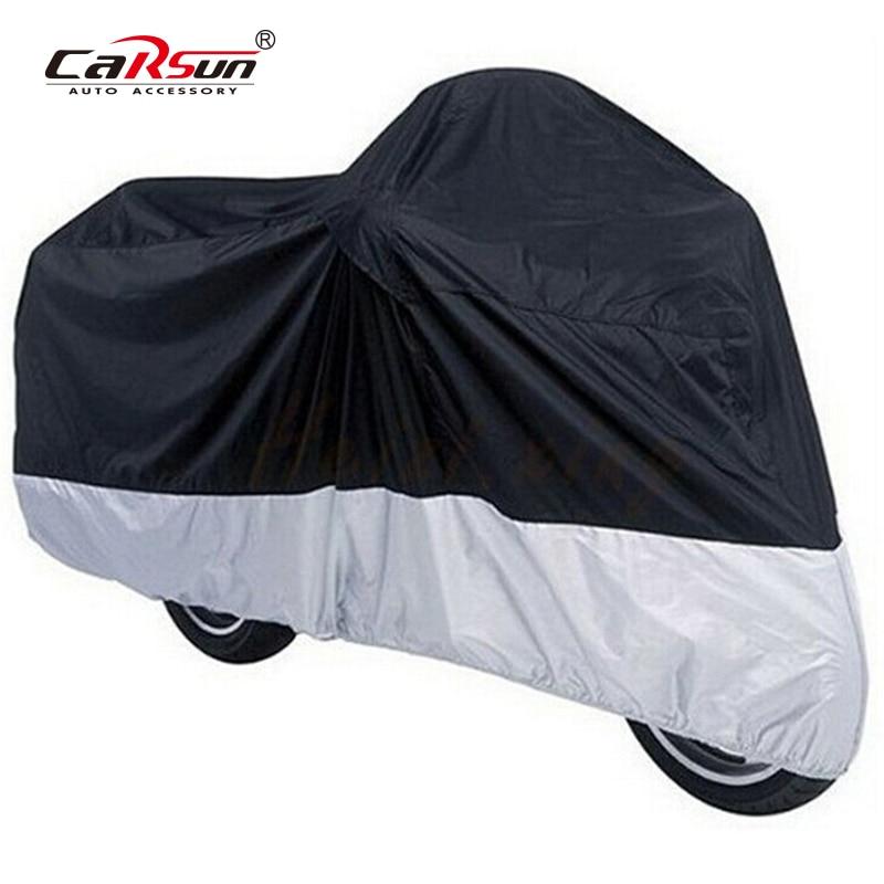 Motorcycle Cover M L 190T Motorcycle Waterproof Bike Motors Dust Rain Snow UV Protector Cover      Outdoor Coat Dustproof Covers