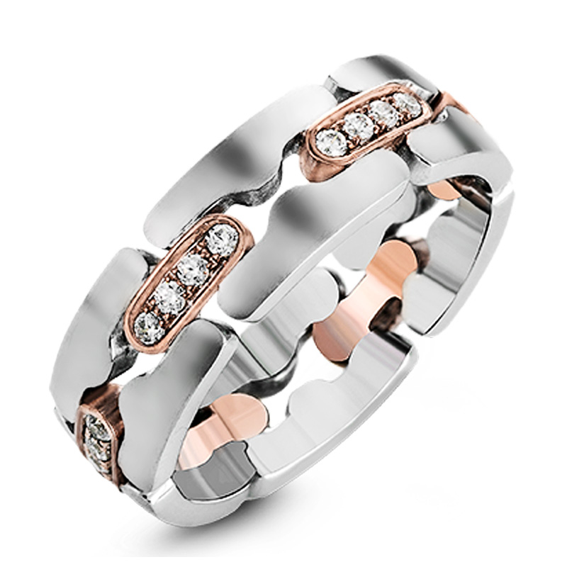 Huitan New Trendy Women Wedding Ring Jewelry Unique Design Hollow Out Cubic Zirconia Elegant Office Lady Party Ring Dropshipping