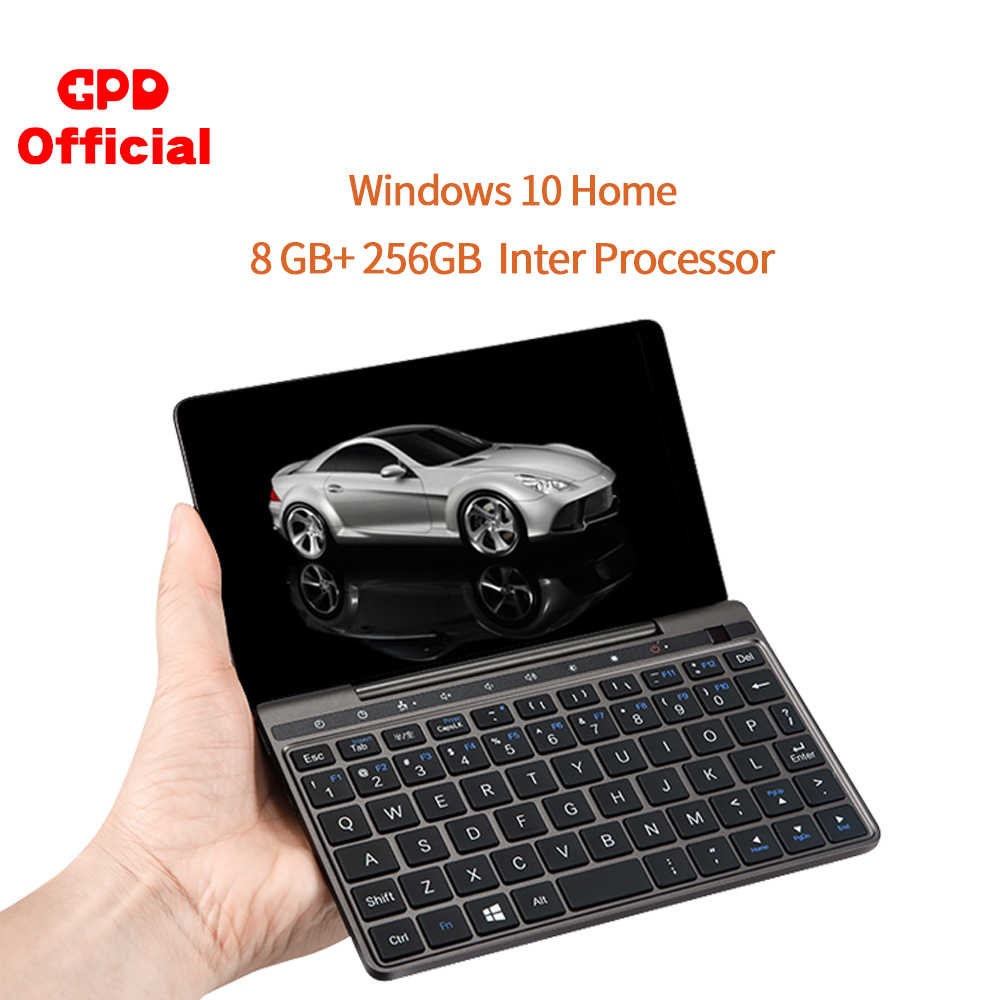 GPD Pocket 2 Pocket2 8GB 256GB 7 pouces écran tactile Mini PC de poche ordinateur portable ordinateur portable CPU Intel Celeron 3965Y Windows 10 système