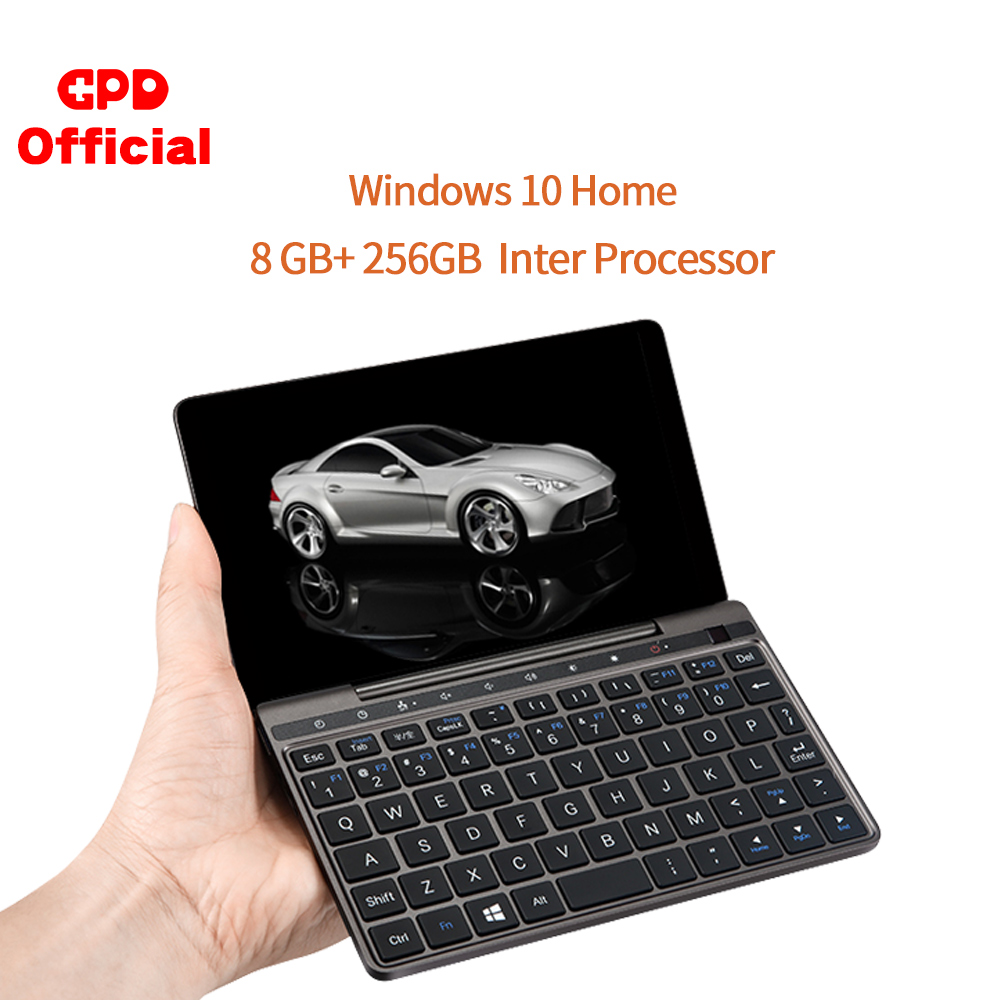 Gpd pocket 2 pocket2 8 gb 256 7 Polegada tela de toque mini pc bolso portátil portátil cpu intel celeron 3965y windows 10 sistema