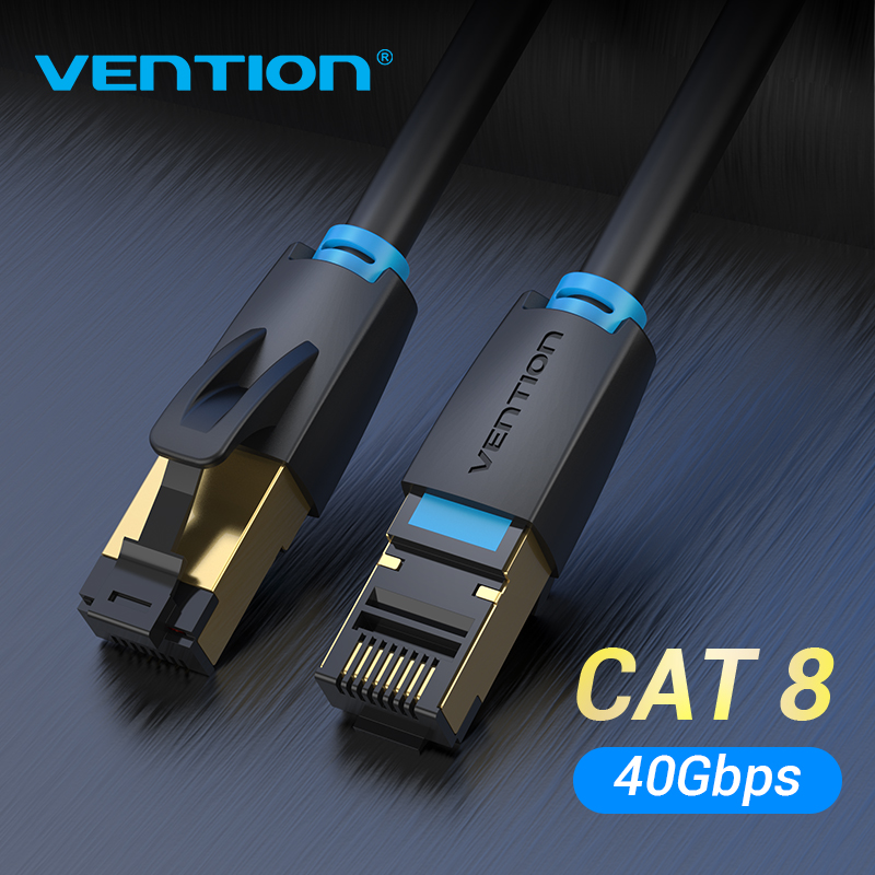 Vention Cat8 Ethernet Cable SFTP 40Gbps Super Speed RJ45 Network Cable Gold Plated Connector For Router Modem CAT8/7/6 Lan Cable