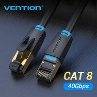 Vention-Cable Ethernet Cat8 SFTP de 40Gbps, Cable de red RJ45 de supervelocidad, conector chapado en oro para módem de enrutador CAT8/7/6