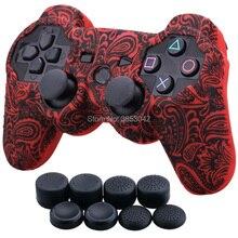 لسوني بلاي ستيشن 3 تحكم غطاء من السيليكون جلد واقي غطاء التفاف الحال بالنسبة PS3 تحكم عصا التحكم هلام المطاط ل PS3