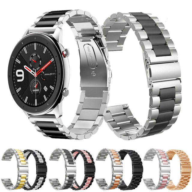 For Xiaomi Huami Amazfit GTR 47mm 42mm Wrist Strap Metal Bracelet Band for Amazfit Stratos 2 3 Amazfit GTS Watchband 20mm 22mm
